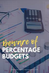 Beware of Percentage Budgets