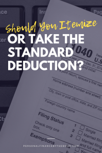 Should You Itemize or Take the Standard Deduction