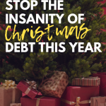 Stop the Insanity of Christmas Debt this Year